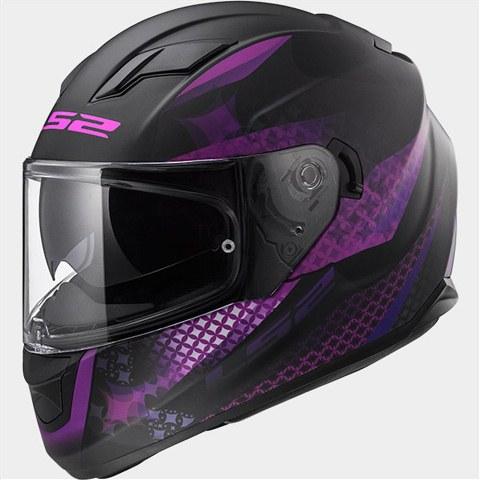 Capacete LS2 FF320 Stream Alux mat black/purple
