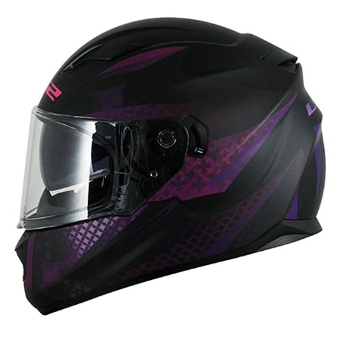 Capacete LS2 FF320 Stream Alux mat black/purple