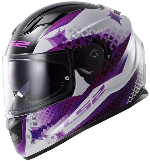 Capacete LS2 FF320 Stream Alux white/purple