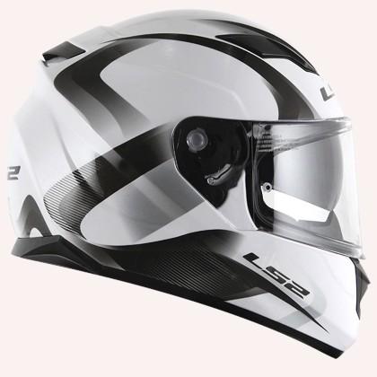 Capacete LS2 FF320 Velvet Wht/Gray