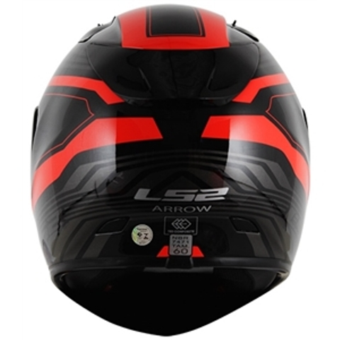 Capacete LS2 FF323 Arrow R Burner Preto / Vermelho