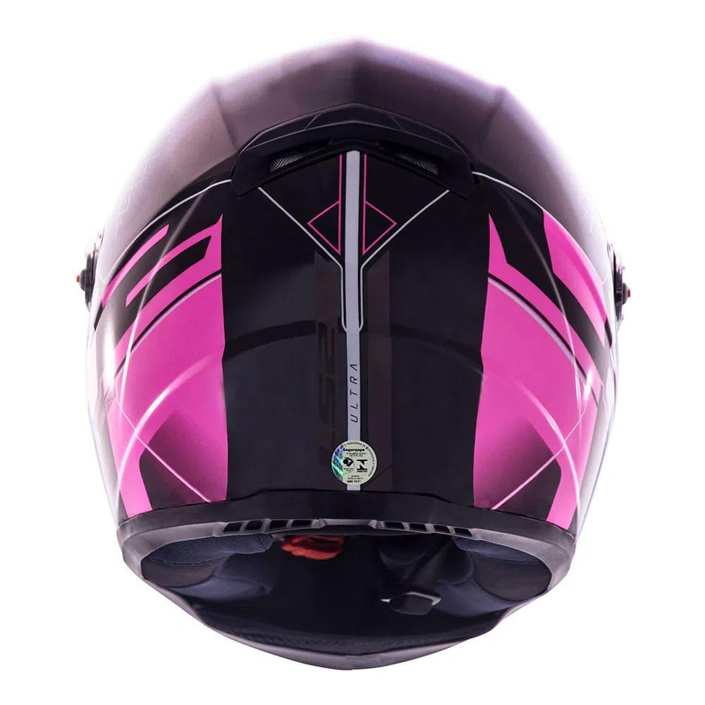 CAPACETE LS2 FF358 ULTRA BLACK PINK