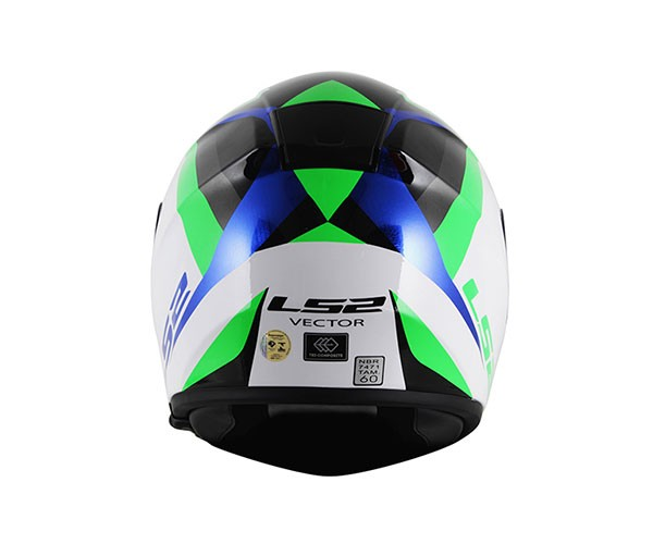 Capacete LS2 FF397 Vector Labyrinth White/Green