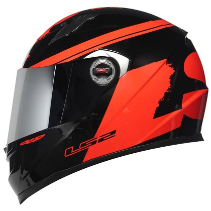 Capacete LS2 FF 358 Fluo Gloss Red