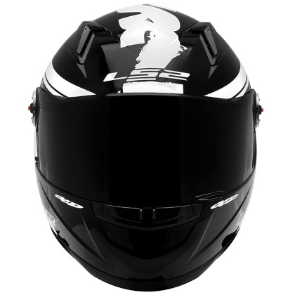 Capacete LS2 FF 358 Fluo Gloss White
