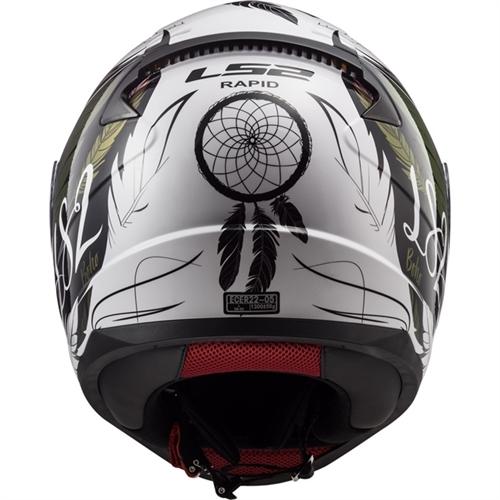 CAPACETE LS2 FF353 RAPID BOHO WHITE/BLACK/PINK