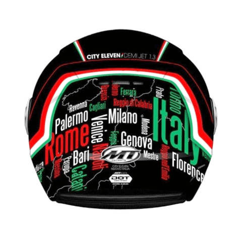 CAPACETE MT CITY ELEVEN NEW ITALY MATT BLACK