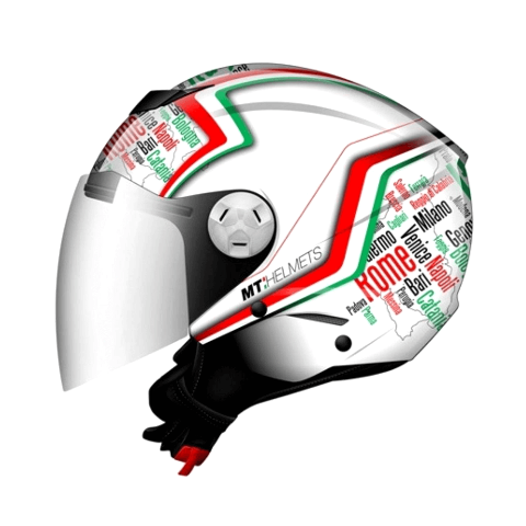 CAPACETE MT CITY ELEVEN NEW ITALY WHITE