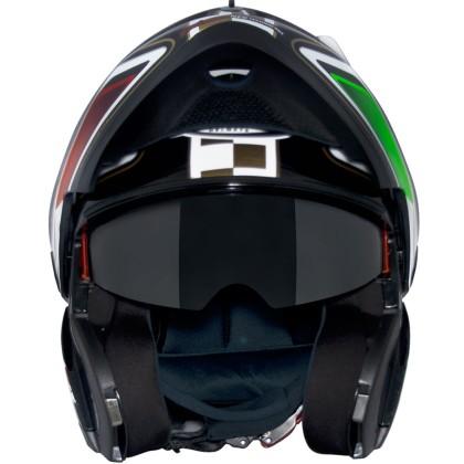 Capacete MT Optimus Escamoteável SV Italy com Viseira Solar