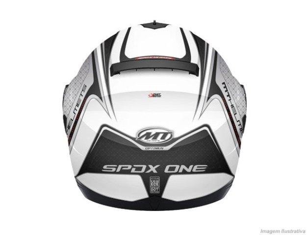 Capacete MT Optimus SV SPDX One com Viseira Solar Branco Prata Preto Fosco