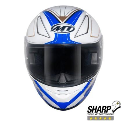 Capacete MT Revenge Limited Evo Branco Azul