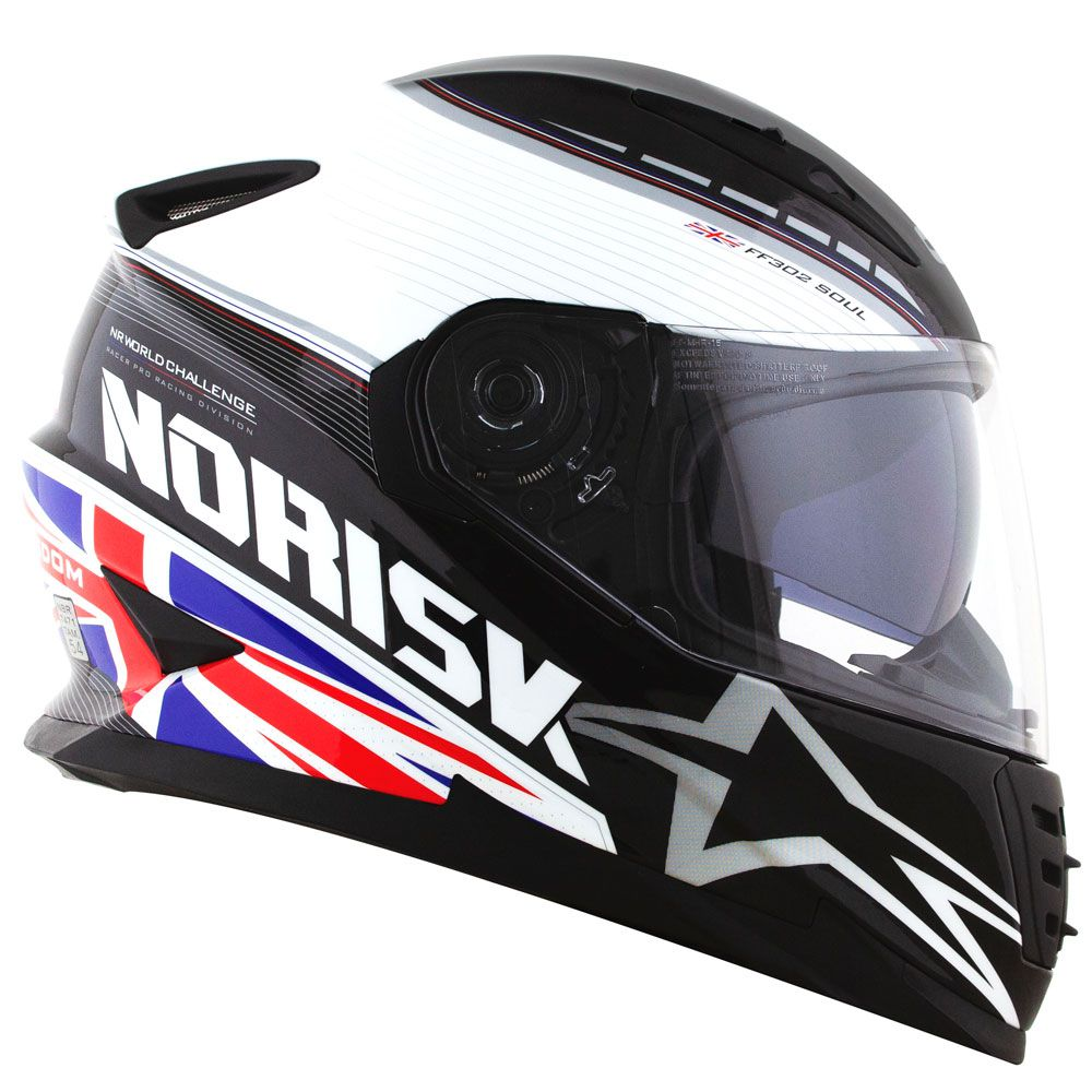 Capacete Norisk FF302 Grand Prix United Kingdom