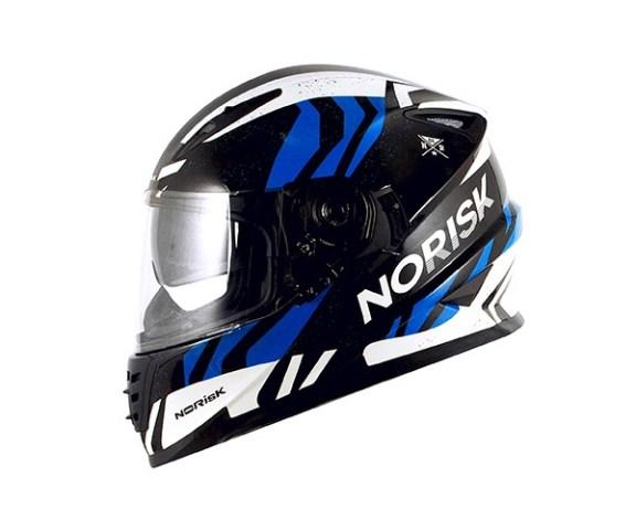 Capacete Norisk FF302 Jungle BLK/WHT/BLUE