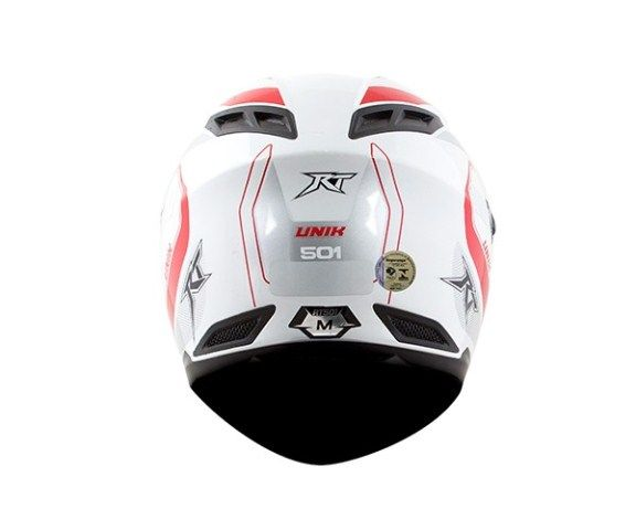 Capacete Race Tech RT501 EVO Unik Wht/Red