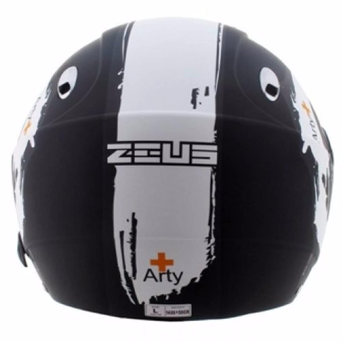 Capacete Zeus 202 FB T40 Matt Blk/Wht
