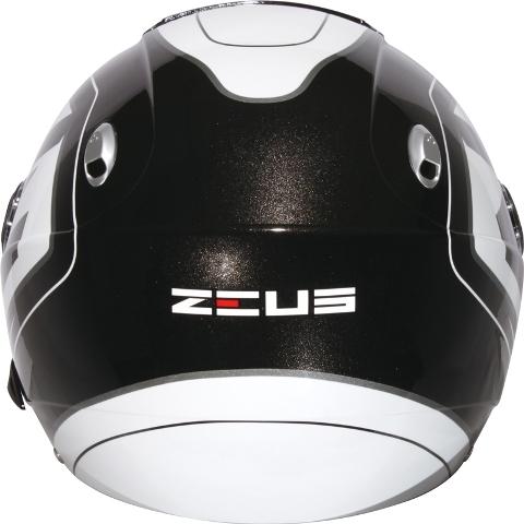 Capacete Zeus 202 FB T45 Blk/Wht