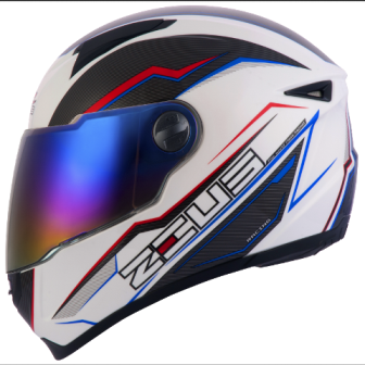 CAPACETE ZEUS 811 EVO SPEED WHITE AL12 BLUE