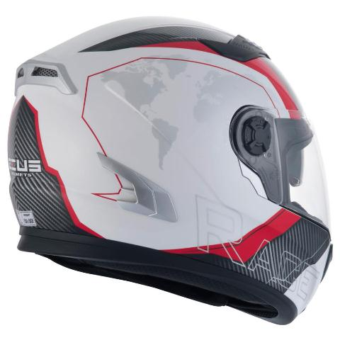 Capacete Zeus 813 AN10 White/Red