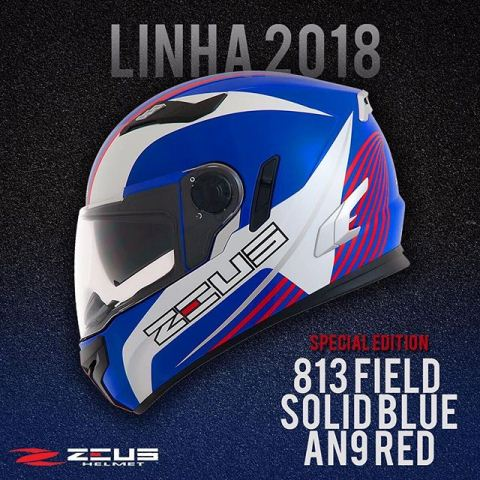 Capacete Zeus 813 AN9 Blue/Red/White