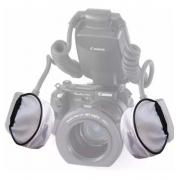 2 Pc P/difusor Flash Twin Nikon Canon Yongnuo R1 C1 C2 2 Pçs