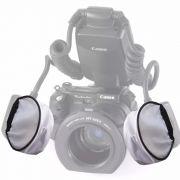 Difusor Para Flash Twin Nikon Canon Yongnuo Universal 2 Pçs