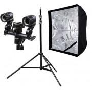 Estúdios Fotográficos  Softbox luz continua 60x90 duplo Greika ou godox