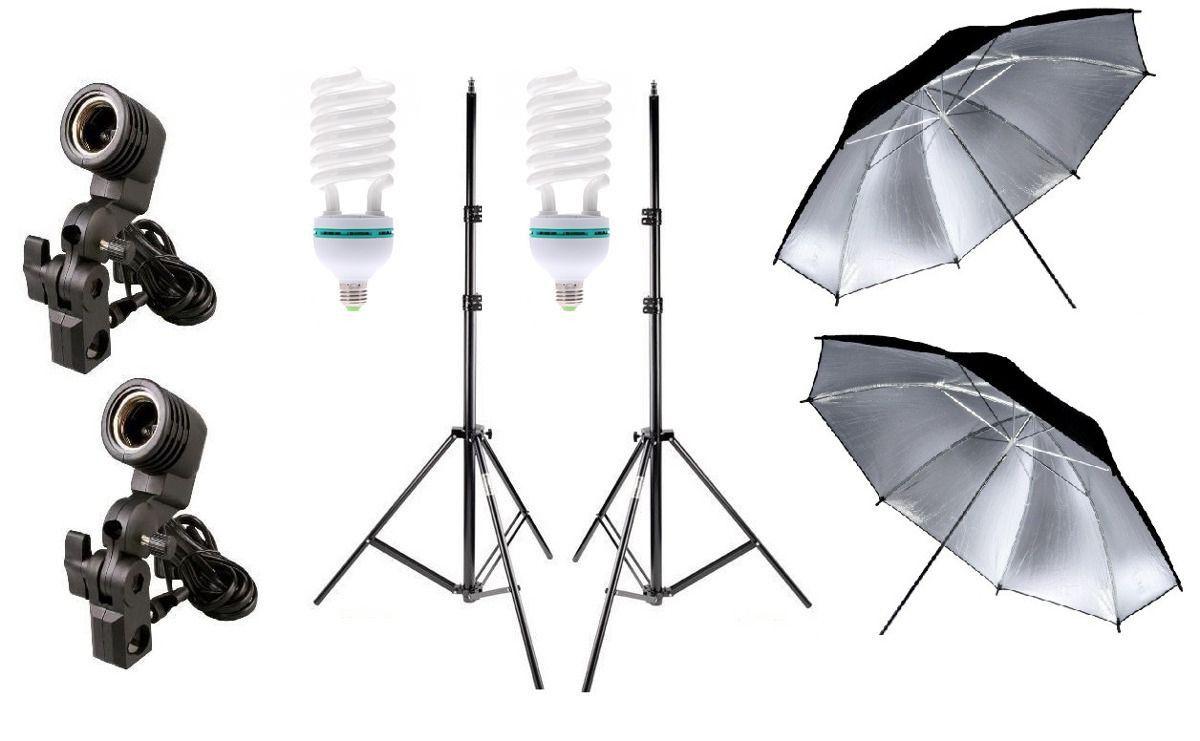 2 Kit Iluminação Estúdio Luz Continua Foto/vídeo com lampada 170W Profissional 2
