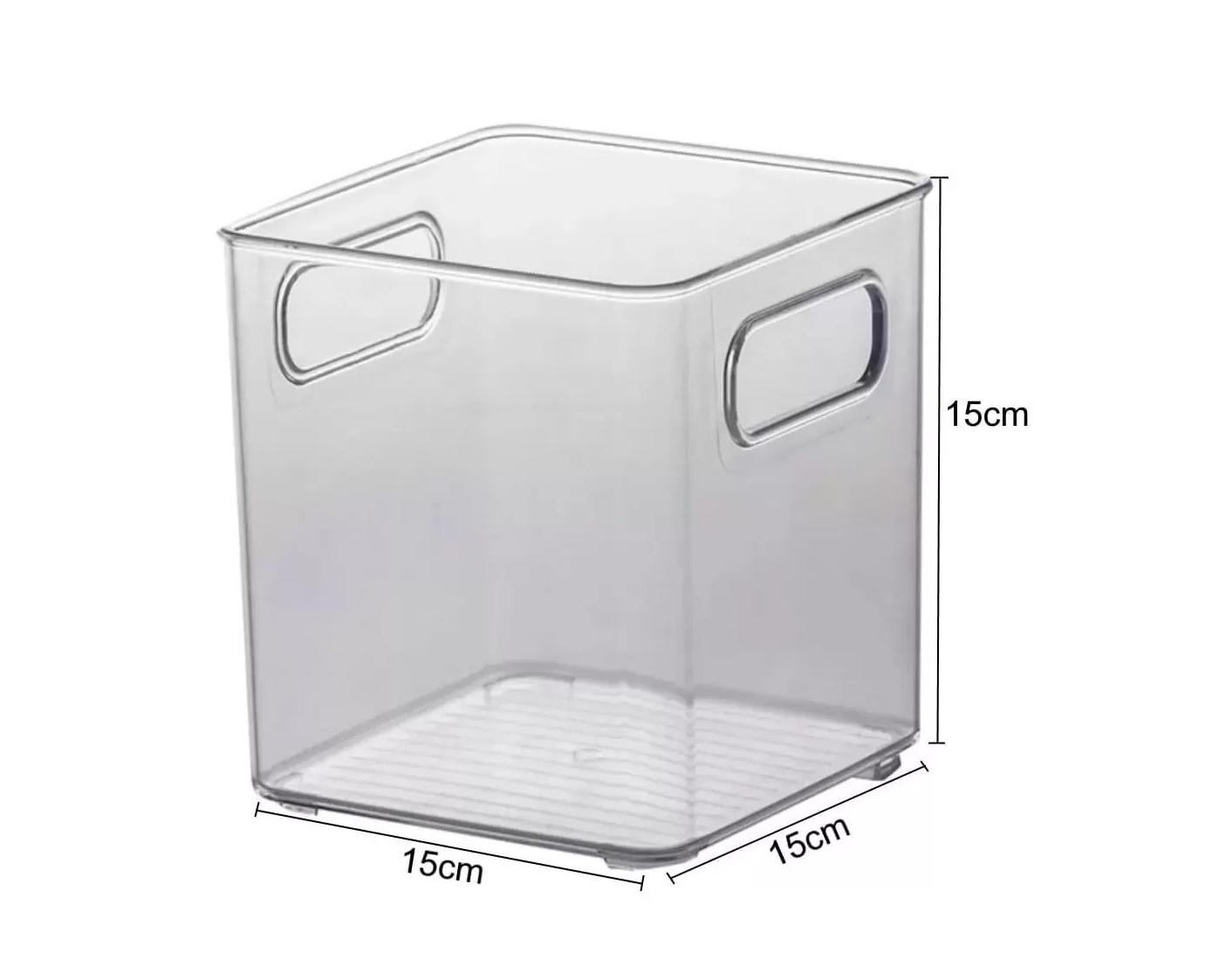 2 Organizador Multiuso C/ Alça Cozinha Banheiro 15x15x15 899