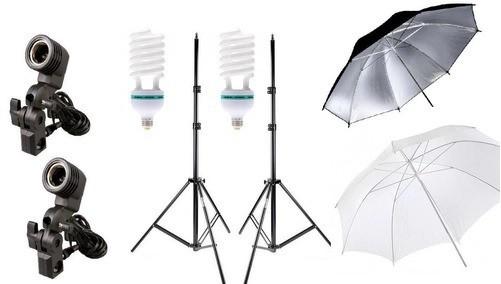 2 Pçs Iluminação Estúdio Luz Continua Foto/vídeo Lamp 90w