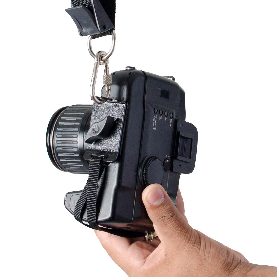 Alça Dupla Em Tecido Preta Para cameras dslr profissionais e amadoras