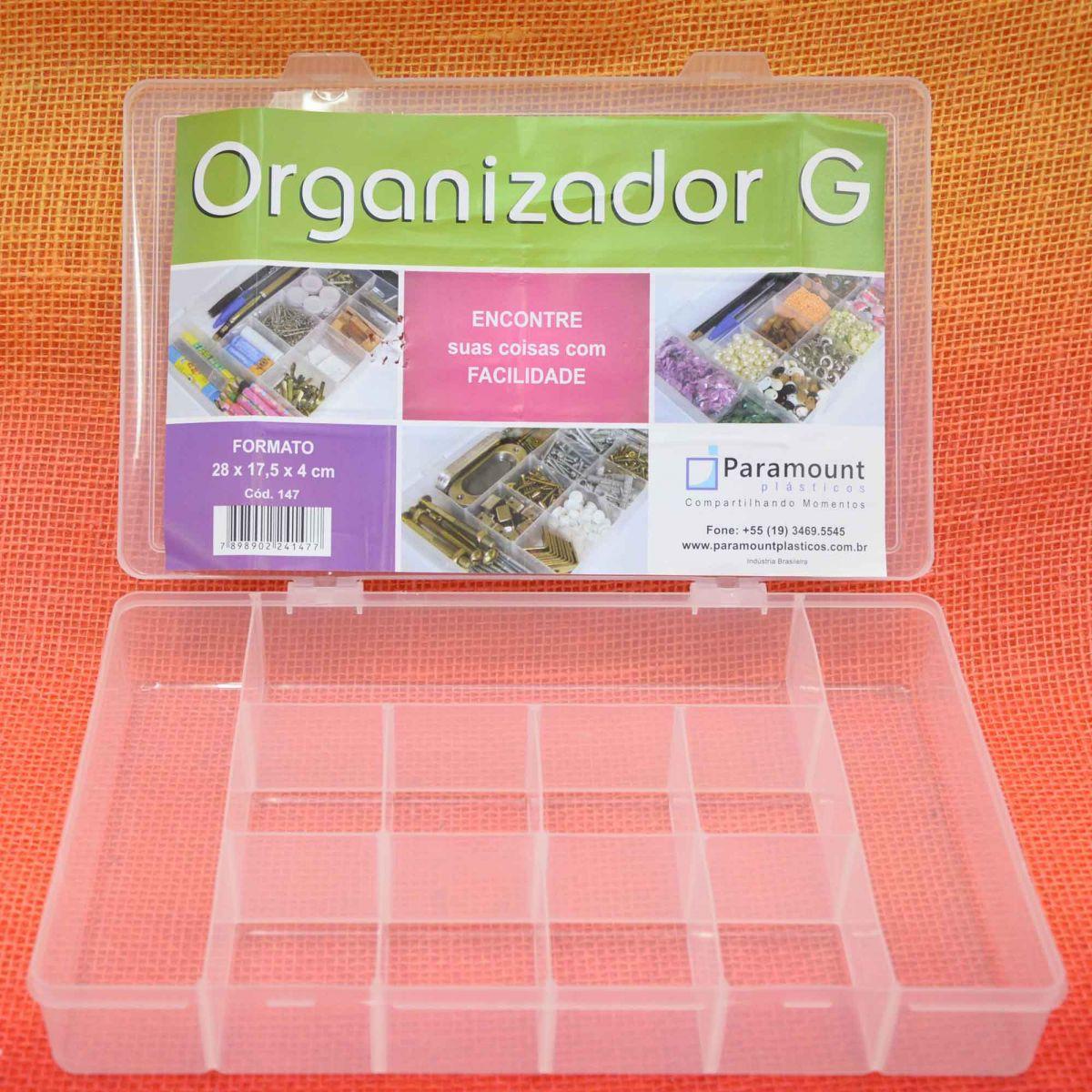 Box Caixa Organizador Paramount 11 Divisorias G - 147