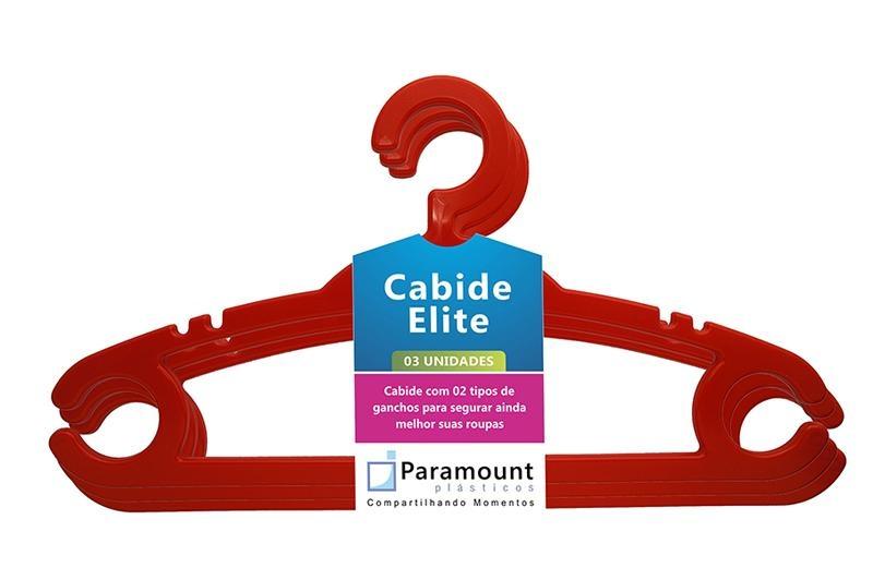 Cabide Elite Paramount kit com 12 unidades cores sortidas