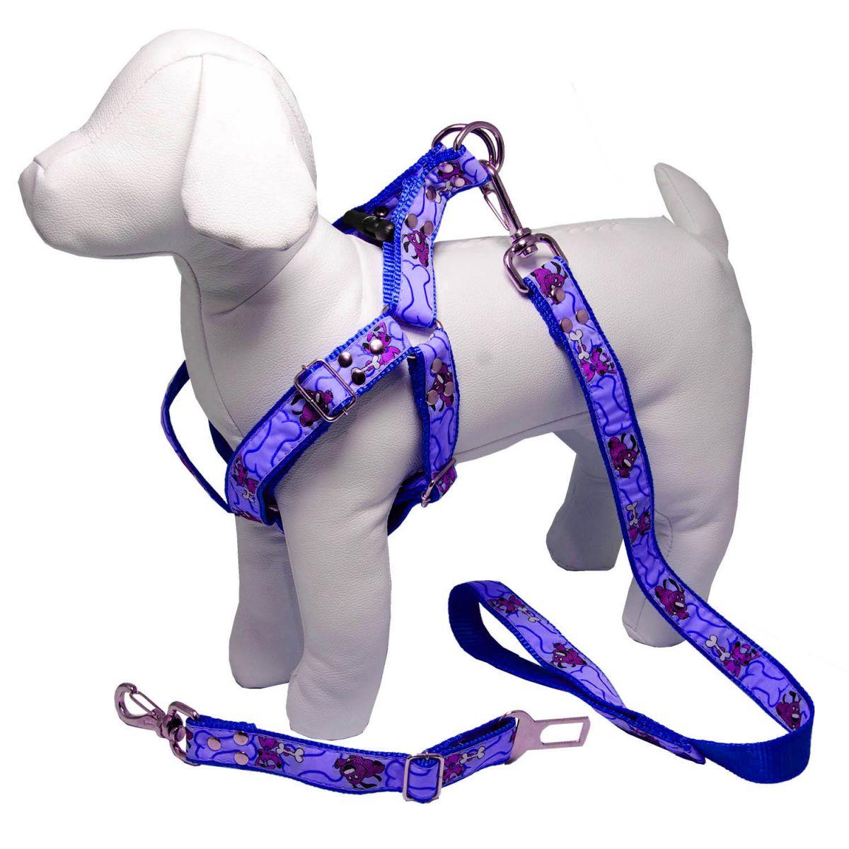 Coleira Peitoral Para Cachorro com Guia e Adaptador Ajustavel