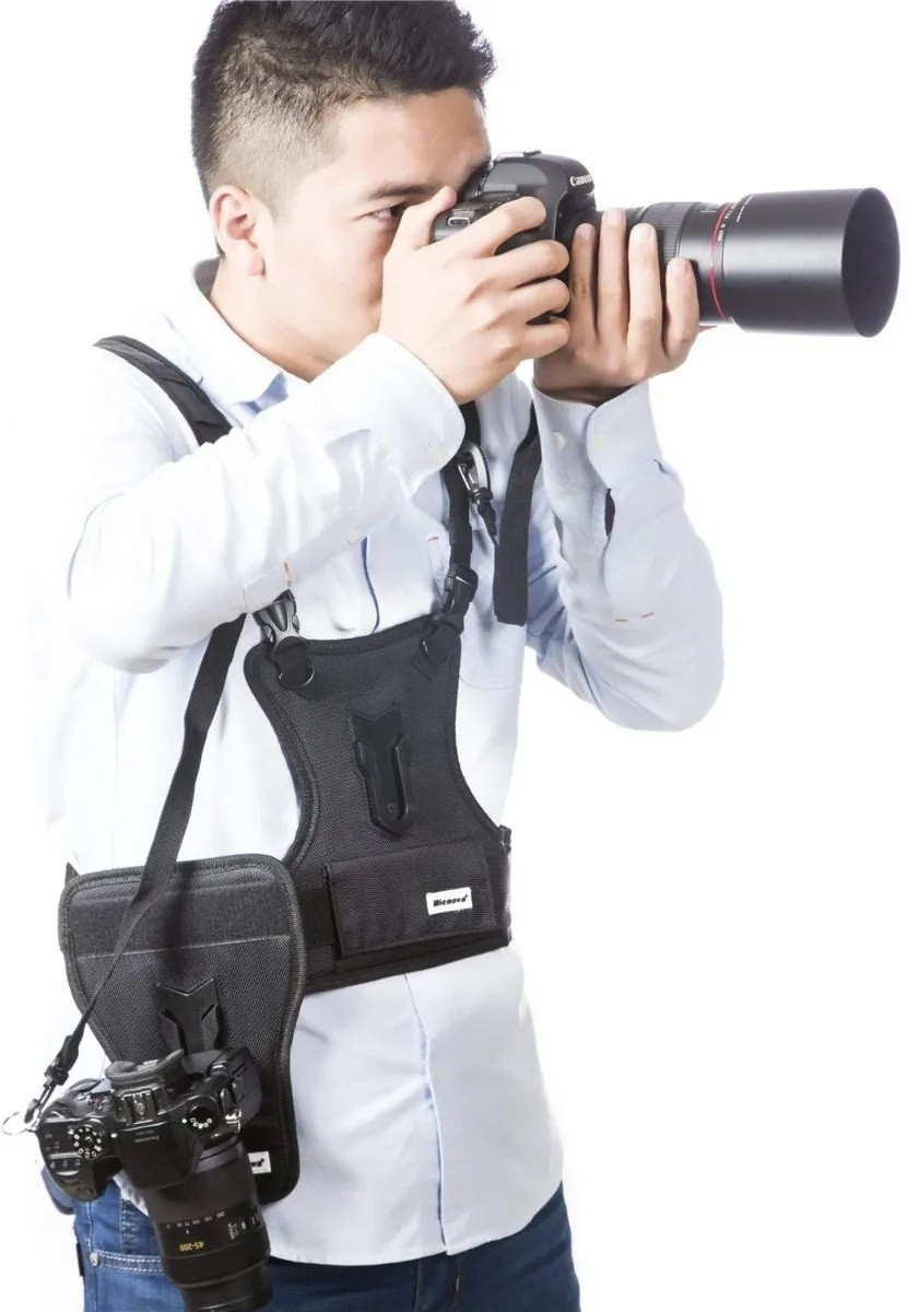 Colete Fotográfico Micnova Mq-msp01 Para Até 2 Câmeras
