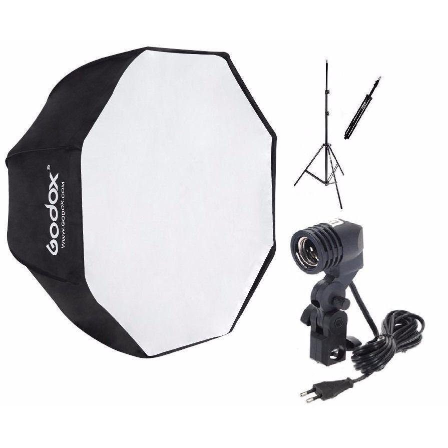 Estúdios Fotográfico Softbox Sombrinha 120cm Octabox para Iluminação