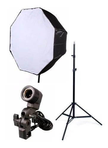Estúdios Fotográfico Softbox Sombrinha 80cm Octabox para Iluminação