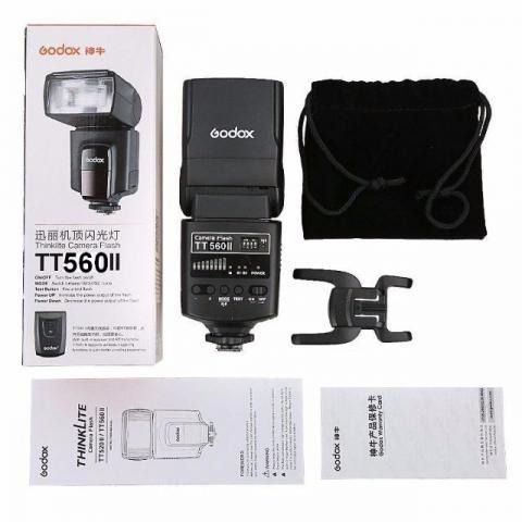 Flash Speedlite Godox Tt560 Ii Com Radio Flash Embutido