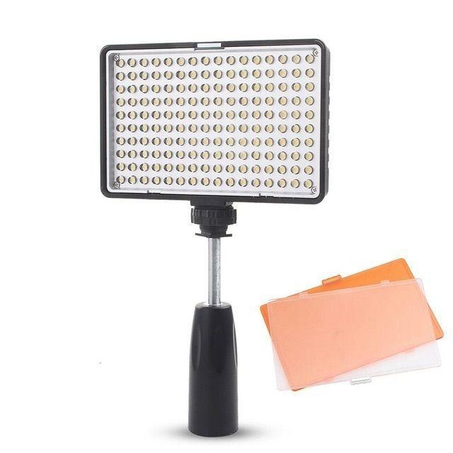 Iluminador Led Profissional Greika - Tl-160 Painel Bateria