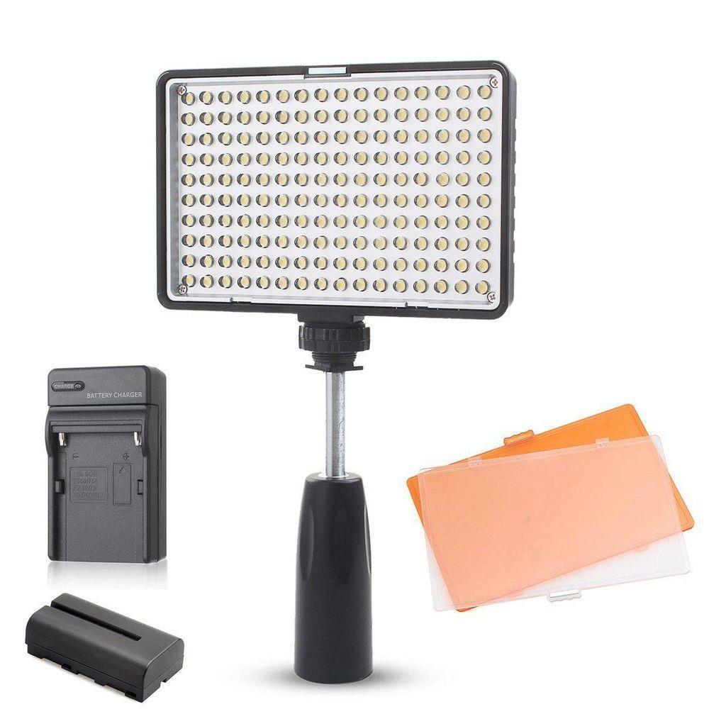 Iluminador Led Profissional Greika - Tl-180 Painel Bateria