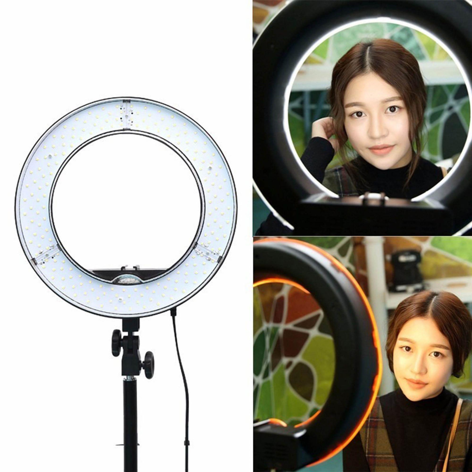 Iluminador Ring Light De Led Rl12 35cm E Tripé 2 metros