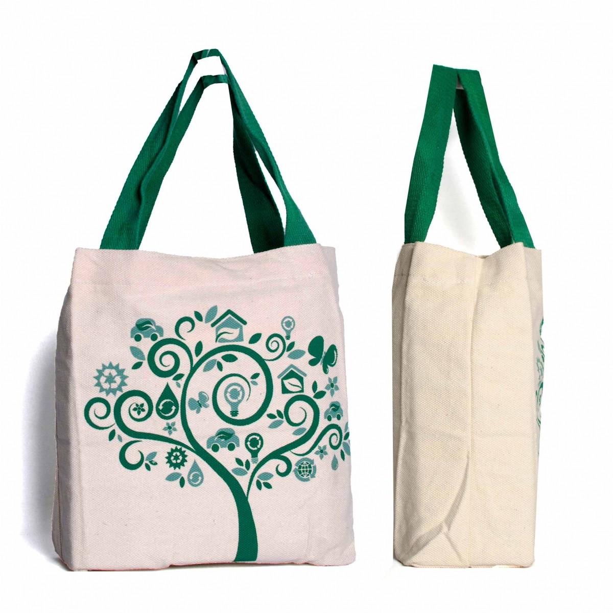 kit 10 Sacola Ecológica com bolso 100% Algodão 44x35x10