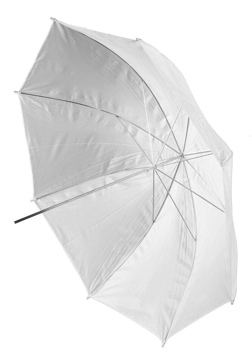 kit 10 Sombrinha Refletora Branca 101cm Suavizadora