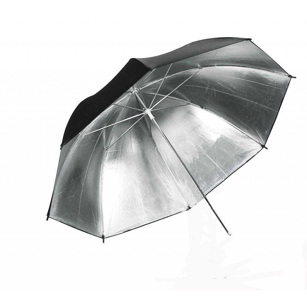 kit 2 Sombrinha Refletora Preta Prata 91cm Estudio profissional yu302