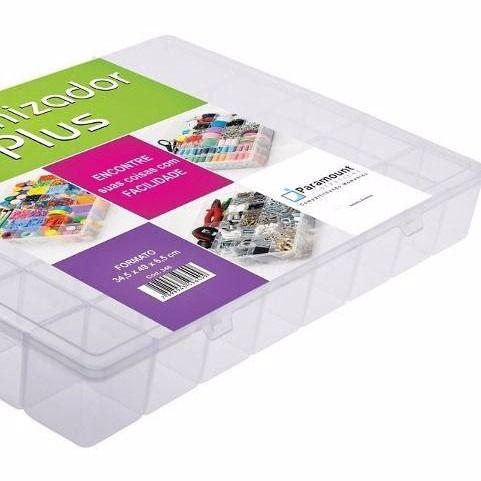kit 3 Box Caixa Organizador Paramount 20 Divisorias PLUS 346