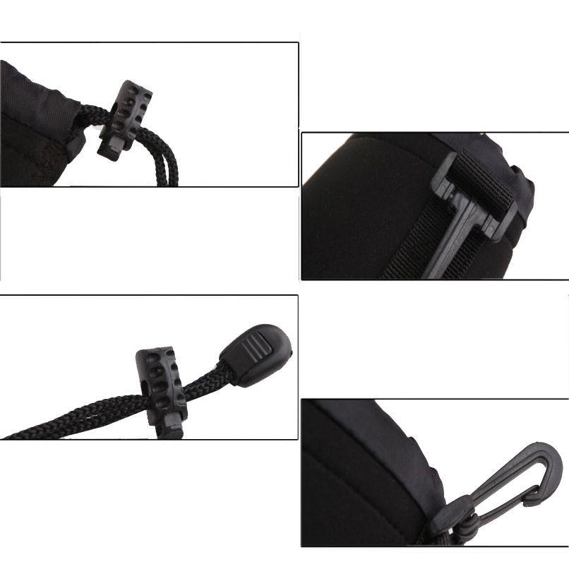 Kit 4 Bolsa Case Neoprene Luva Lente Canon Nikon Youngnou