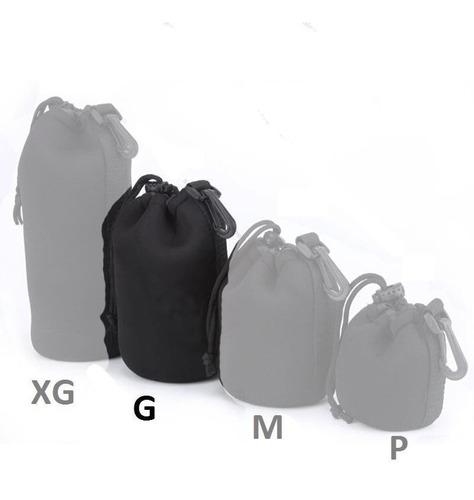 kit 4 Case Neoprene Luva Lente Canon Nikon Youngnou P M G Xg