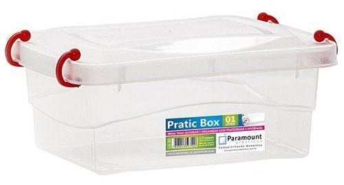 Kit 60 Box Caixa Organizador Paramount Marmita 1 litro