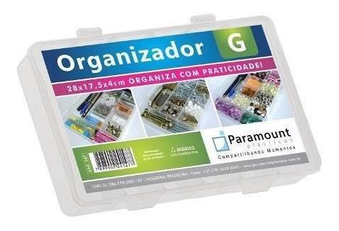 Kit 6 Box Caixa Organizador Colméia 11 Divisoria G Paramount