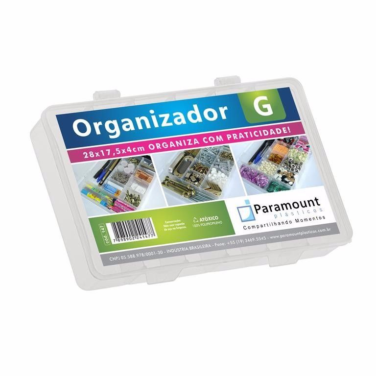 kit 6 Box Caixa Organizador Paramount 11 Divisorias G 147
