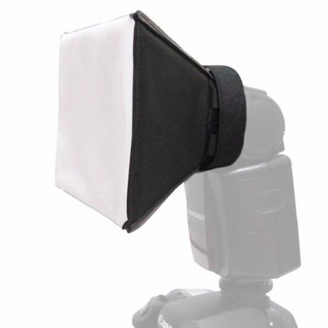Kit de 2 Difusor P/ Flash Softbox Pixco Universal Canon Sony Nikon